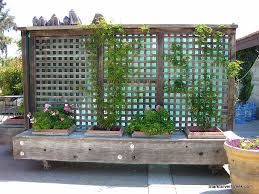 Garden Wall Planter by Movable Privacy Fence On Casters With Built In Planters Could