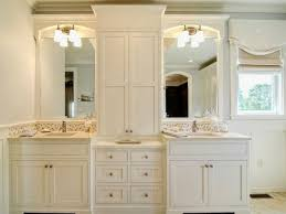creative of bathroom vanity with linen cabinet pertaining to house