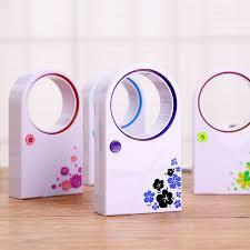 Desk Top Air Conditioner Fashion Safety Design Ultra Quiet No Leaf Bladeless Mini Usb