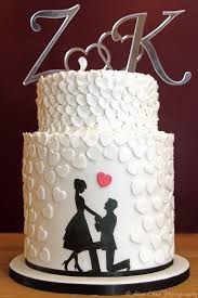 engagement cakes 3 tier silhouette heart engagement cake pinteres