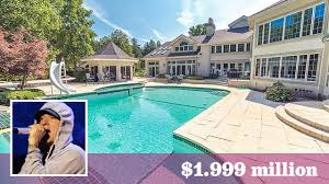 eminem u0027s massive michigan mansion hits the market at 2 million