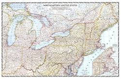 northeastern cus map northeastern us 1945 wall map by national geographic