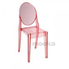 victoria ghost side chair mooka modern furniture