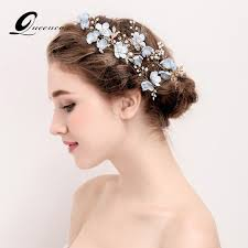 hair accessories for prom luxury 4pcs blue flower hair combs headdress prom bridal wedding