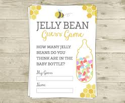 bee baby shower game guess how many jelly beans in the baby