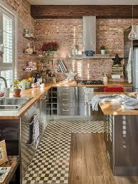 cuisine en brique comment choisir la crédence de cuisine idées en 50 photos murs