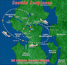 Map Of Seattle Scenic Flights Seattle Seaplanes Lake Union Seattle Washington