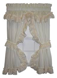 Ruffled Kitchen Curtains Blend Your House Modern Look With Traditional Priscilla Curtains