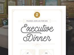 Dinner Invitation Executive Dinner Invitation Email By Bekka Reese Dribbble