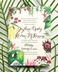 tropical themed wedding invitations wedding invitation ideas oh so beautiful paper