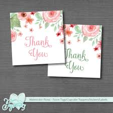 printable favor tags stickers labels cupcake toppers thank you tag