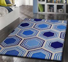 Indoor Area Rugs by Geometric Contemporary Blue Indoor Area Rug Rug Addiction
