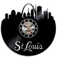 theme clock louis city theme black vinyl decorative wall clock