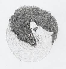 yin and yang wolves by mysteriouswhitewolf on deviantart