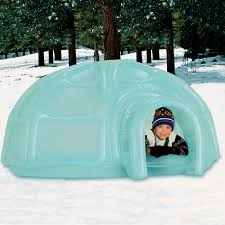 the inflatable igloo play center hammacher schlemmer