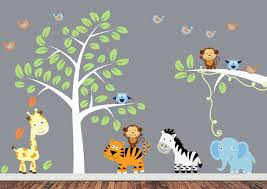 241 baby room wall stickers jpg 1288 913 everything baby 3 jungle animals wall decals jungle animal wall decals with tree giraffe tiger elephant zebra boys room wall decals stickers girls boys room wall decor