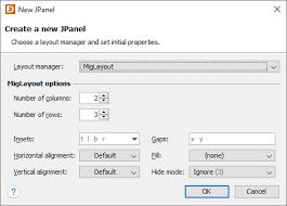 java null layout manager swing layout manager properties jformdesigner java swing gui designer