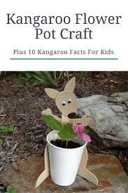 simple spring kangaroo flower pot craft mommymaleta