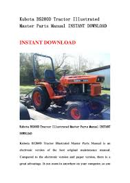 kubota b5200 d tractor illustrated master parts manual instant downlo u2026