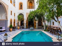 detail riad is a traditional moroccan house or palace with an