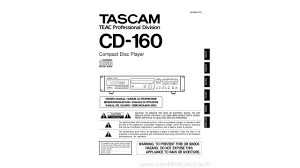 tascam compact disc player cd 160 owners manual youtube