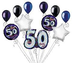 50th birthday balloon bouquets 11 pc oh no the big 50 happy birthday balloon bouquet