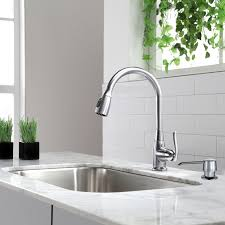 kitchen faucets com kraus premium faucets pull down single handle kitchen faucet with