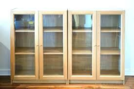 Ikea Bookcases With Glass Doors Ikea Billy With Doors Billy Bookcase Glass Door Hack Ikea Billy