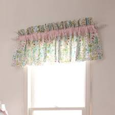 love bird damask window valance rod pocket carousel designs