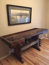 Antique Woodworking Benches Sale by Wooden Work Bench Ebay