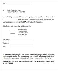 sample retirement resignation letter 6 examples in pdf word
