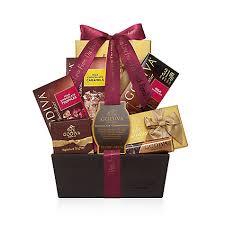 Wine And Chocolate Gift Baskets Chocolate Celebration Gift Basket Personalized Wine Ribbon Godiva