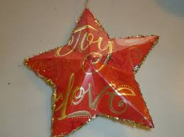 maui jungalow recycled christmas card star ornaments