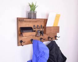 Shelf Hooks Entryway Entryway Organizer Coat Rack Mail Storage Coat Hooks And Key