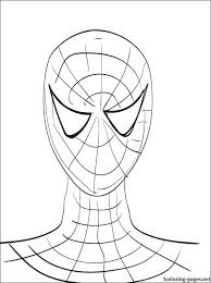 portrait spider man coloring coloring pages