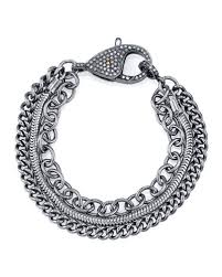 chain bracelet with diamond images Diamond link chain bracelet neiman marcus jpg