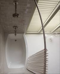 bathroom interesting bathroom design with exciting kohler interesting curved curtain rods with white shower curtains
