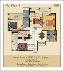 4 Bedroom Apartment by Ajnara Pride Residential Property 3 4 Bedrooms Apartments