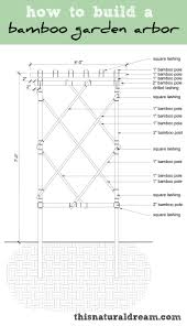 how to build a bamboo garden arbor diy bamboo trellis garden