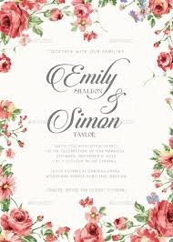 wedding invitations floral rustic floral wedding invitations by bnimit graphicriver