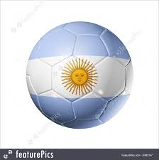 Argentina Flag Photo Soccer Football Ball With Argentina Flag Stock Illustration