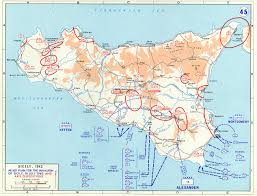 Map Of Italy And Sicily by Map Of Allied Plan For The Invasion Of Sicily July 1943