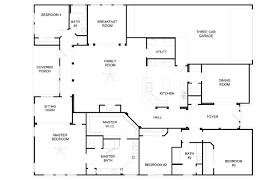 4 bedroom 4 bath house plans 4 5 bedroom house plans 3 bath plan picturesque simple