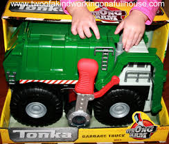 tonka mighty motorized fire truck funrise toys tonka strong arm garbage truck review giveaway