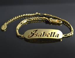 gold name bracelet gold name bracelet in rubber bracelets