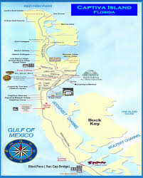 Channel Islands Map Captiva U0026 Sanibel Island Map