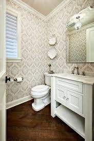 Wallpapered Bathrooms Ideas Small Baths With Big Impact Classic Baths Trellis Wallpaper And