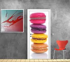 stickers porte cuisine affiche poster pour porte macarons déco stickers