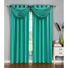 Emerald Green Curtain Panels by Jasper Faux Silk Lined Back Tab Curtains Pair Emerald By