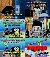 Meme Spongebob Indonesia - rengasdengklok happening reenacted by spongebob characters indonesia